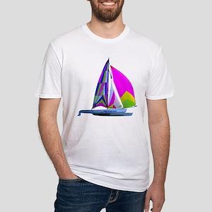 Hobie Cat Art Fitted T-Shirt