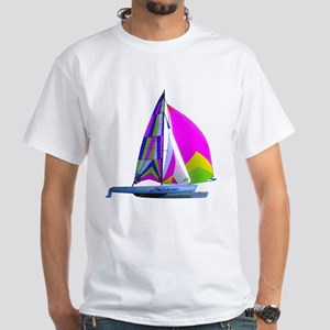 Hobie Cat Art White T-Shirt