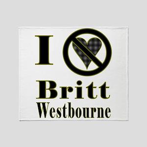 I Hate Britt Westbourne Throw Blanket