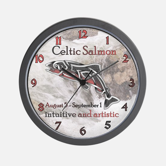 Celtic Salmon Wall Clock