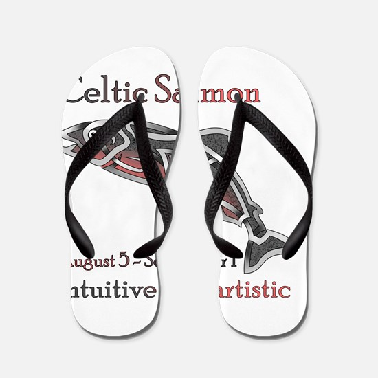 Celtic Salmon Flip Flops