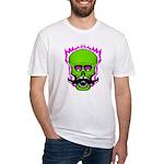 Hipster Mustache Flaming Skull T-Shirt