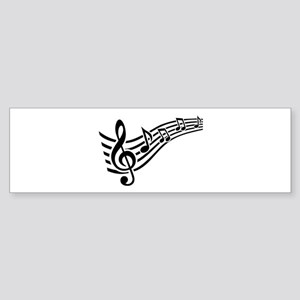 Clef musical notes Sticker (Bumper)