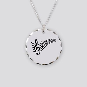 Clef musical notes Necklace Circle Charm