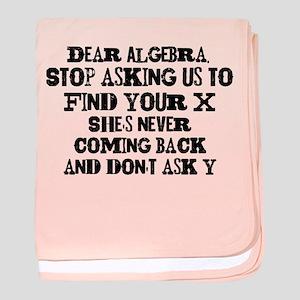 Dear Algebra baby blanket