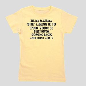 Dear Algebra Girl's Tee