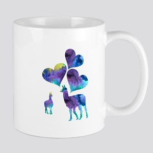 Llama Art Mugs