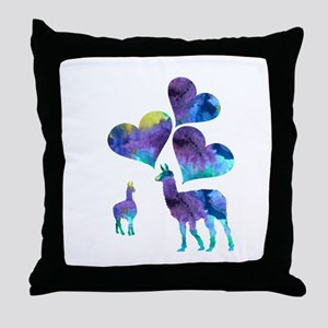 Llama Art Throw Pillow