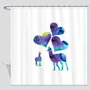 Llama Art Shower Curtain