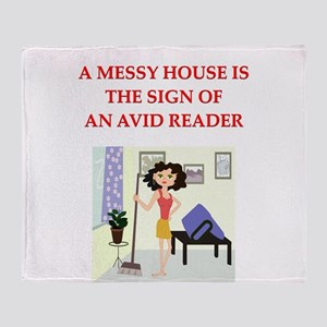 READER Throw Blanket