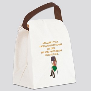 read1 Canvas Lunch Bag