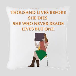 read1 Woven Throw Pillow