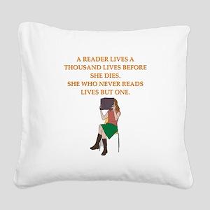 read1 Square Canvas Pillow