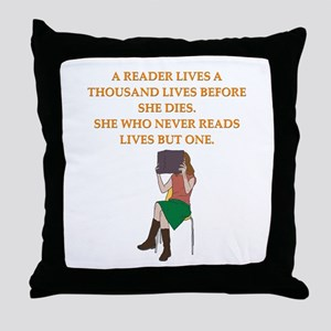 read1 Throw Pillow