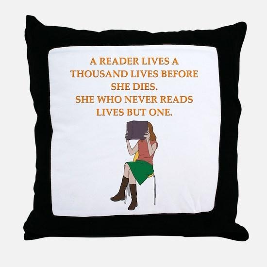 read1 Throw Pillow