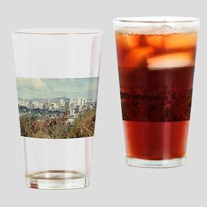 """Honolulu And Diamond Head"" Drinking Glass"