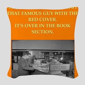 LIBRARY8 Woven Throw Pillow