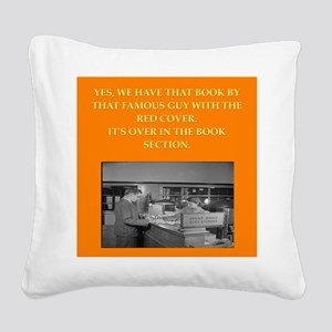 LIBRARY8 Square Canvas Pillow