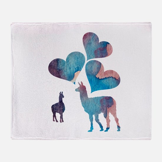 Llama Art Throw Blanket