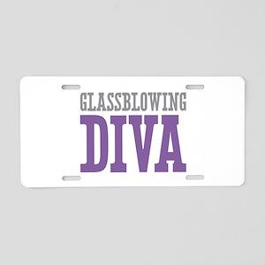 Glassblowing DIVA Aluminum License Plate