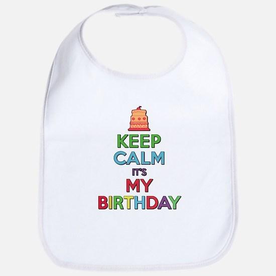 Keep Calm Its My Birthday Bib