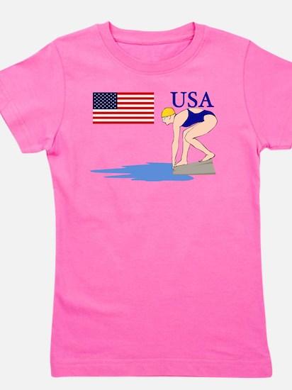 USA Swimming Girl's Tee