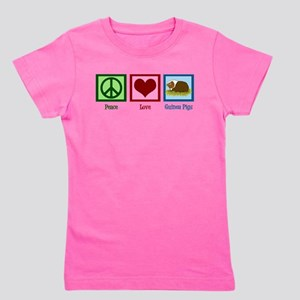 Peace Love Guinea Pigs Girl's Tee