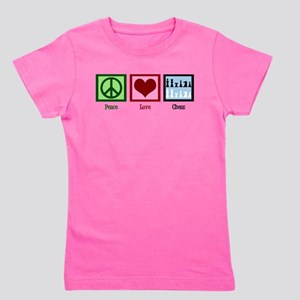 Peace Love Chess Girl's Tee