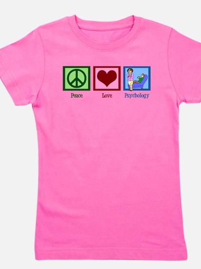Peace Love Psychology Girl's Tee
