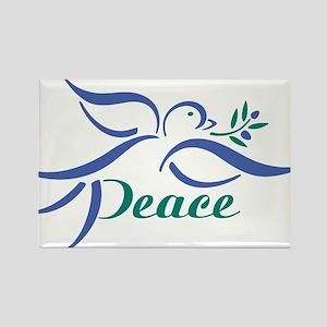 Dove Peace Rectangle Magnet