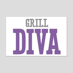 Grill DIVA Mini Poster Print