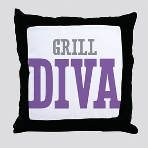 Grill DIVA Throw Pillow