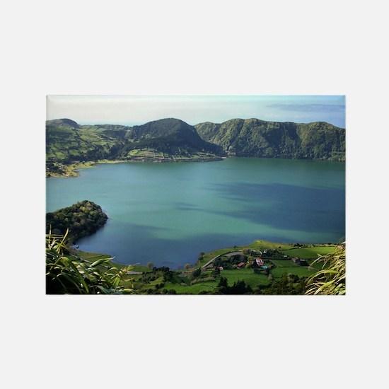Sete Cidades Lagoon in S. Miguel, Azores Rectangle