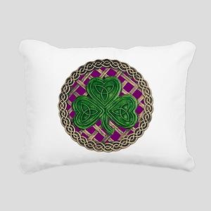 Shamrock And Celtic Knots Rectangular Canvas Pillo