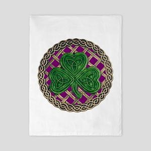 Shamrock And Celtic Knots Twin Duvet