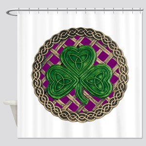 Shamrock And Celtic Knots Shower Curtain