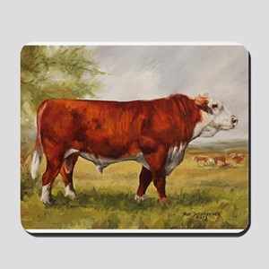 Hereford Bull The Champion Mousepad