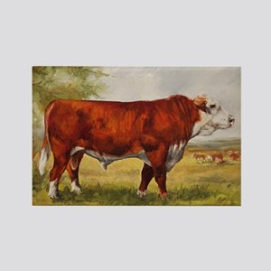 Hereford Bull The Champion Rectangle Magnet