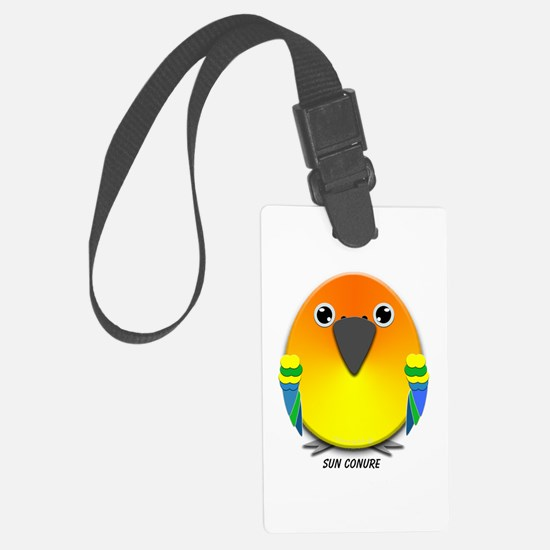 Sun Conure Parrot Luggage Tag