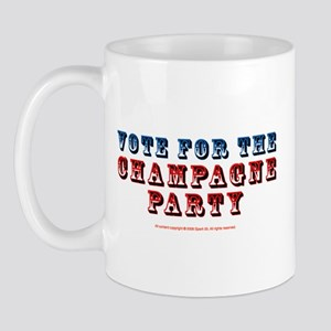 Vote for Champagne Party Mug