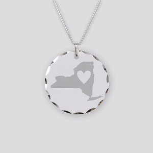 Heart New York Necklace Circle Charm