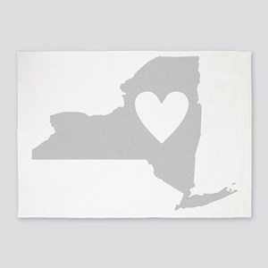 Heart New York 5'x7'Area Rug