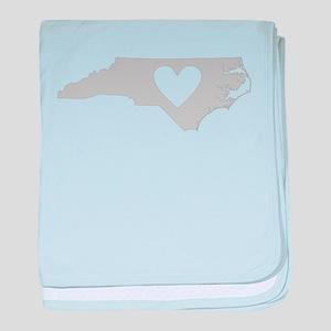 Heart North Carolina baby blanket