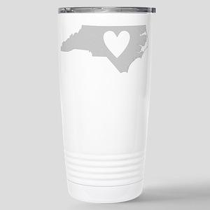 Heart North Carolina Stainless Steel Travel Mug