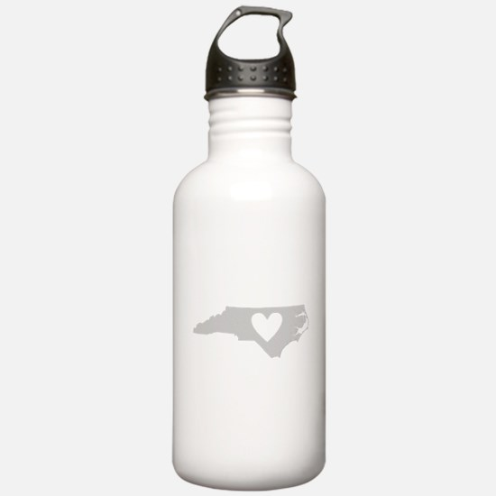 Heart North Carolina Water Bottle