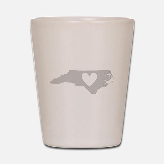 Heart North Carolina Shot Glass