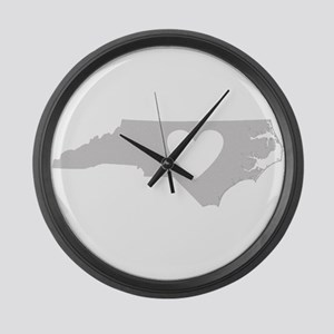 Heart North Carolina Large Wall Clock