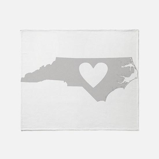 Heart North Carolina Throw Blanket