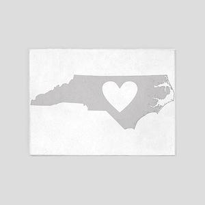 Heart North Carolina 5'x7'Area Rug