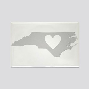 Heart North Carolina Rectangle Magnet